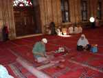 Carpet repairer at Mohammed Ali mosque