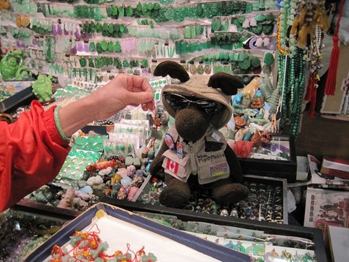 Hong Kong- Here I am at the Jade market. Did you know that we have B.C. Jade too?