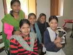 Here I am with some of the girls from Sambhli Trust School.