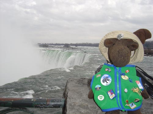 Here I am!  Can you see the Falls?