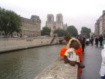 """G - Paris: Can you see the famous Notre Dame cathedral behind me? (Have you ever seen the """"Hunchback of Notre Dame"""" movie?)"""