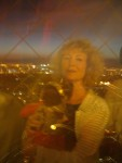 """G - Paris: Here's the photographic proof that """"Mom"""" and I made it to the top of the famous Eiffel Tower!"""