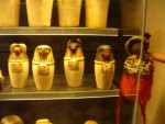"""G - Paris:  They had some cat and dog mummy jars in """"Le Louvre""""... I said, how about a moose mummy jar???"""