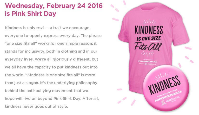 International Pink Shirt Day 2016 | Artee Shirt